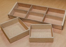trays with internal dividers
