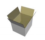3D render of standard regular cardboard box